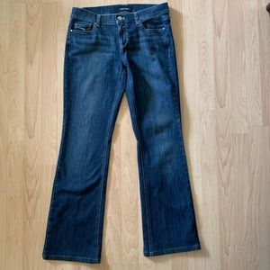 WHBM Blue Jeweled Boot Cut Jeans